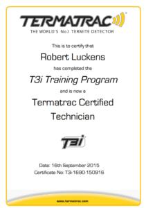 Termatrac Certifiate - Robert Luckens