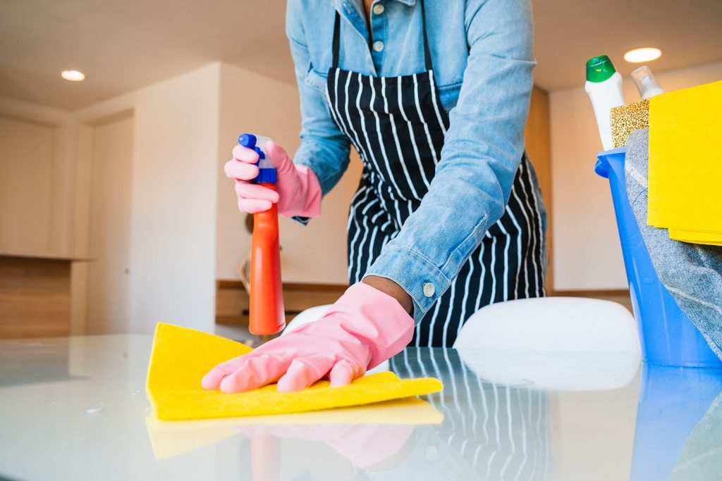 cleaning home after pest spray